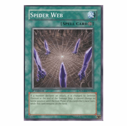 YuGiOh Stardust Overdrive Spider Web SOVR-EN045 Common Single Card