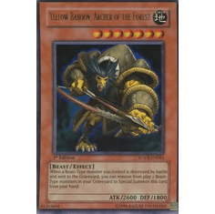 YuGiOh Stardust Overdrive Yellow Baboon, Archer of the Forest SOVR-EN084 Ultra Rare Single Card