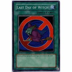 YuGiOh Super Rare Promo Card - Last Day of Witch DL9-EN001