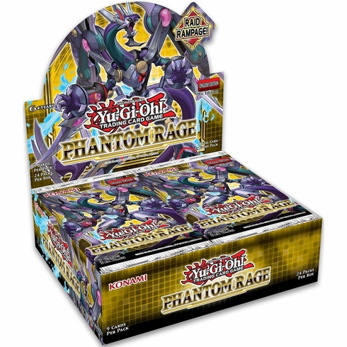 YuGiOh Trading Card Game Phantom Rage Booster Box [24 Packs] (Pre-Order ships November)