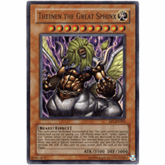 YuGiOh Ultra Rare Promo Card - Theinen the Great Sphinx EP1-EN001