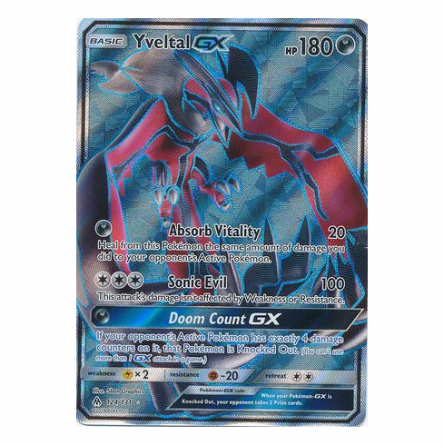 Yveltal GX 124/131 Full Art - Pokemon Sun & Moon Forbidden Light Card