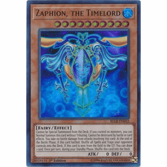 Zaphion, the Timelord BLLR-EN032 Ultra Rare - YuGiOh Light's Revenge Card