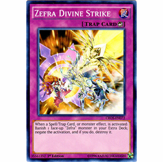 Zefra Divine Strike CROS-EN072 Super Rare - YuGiOh Crossed Souls Card