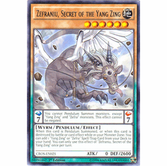 Zefraniu, Secret of the Yang Zing CROS-EN025 Rare - YuGiOh Crossed Souls Card