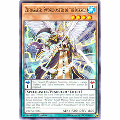 Zefrasaber, Swordmaster of the Nekroz CROS-EN026 Common - YuGiOh Crossed Souls Card