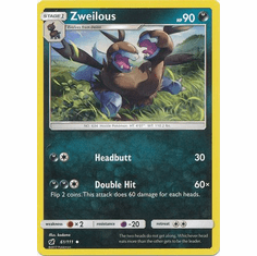 Zweilous 61/111 Uncommon - Pokemon Crimson Invasion Card