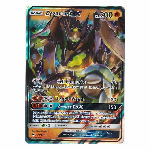 Zygarde GX 73/131 Ultra Rare - Pokemon Sun & Moon Forbidden Light Card