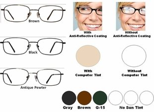Single Vision Readers with Polycarbonate Aspheric Lenses Style # 31