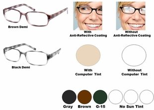 Single Vision Readers with Polycarbonate Aspheric Lenses Style # 54