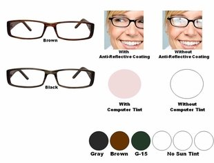 Single Vision Readers with Polycarbonate Aspheric Lenses Style #61