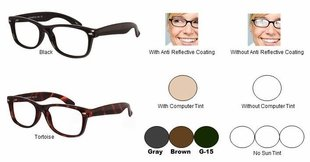 Single Vision Readers with Polycarbonate Aspheric Lenses Style # 68