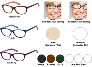 Single Vision Readers with Polycarbonate Aspheric Lenses Style # 69