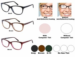 Single Vision Readers with Polycarbonate Aspheric Lenses Style # 80