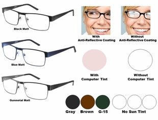 Single Vision Readers with Polycarbonate Aspheric Lenses Style # 84