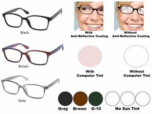 Single Vision Readers with Polycarbonate Aspheric Lenses Style # 91