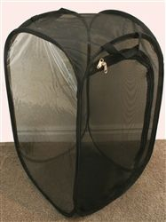 """Butterfly Popup Cage with Vinyl Window Black 13.5"""" by 13.5"""" by 24"""""""