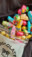 Solid Milk Chocolate Bunnies & Eggs (click on photo for larger image)