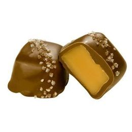Buttery Sweet & Savory Sea Salt Caramels Enrobed in Milk Chocolate