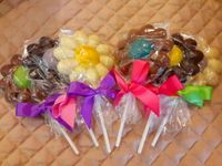 Chocolate Retro Daisy Pops - Half Dozen (click on photo for larger image)