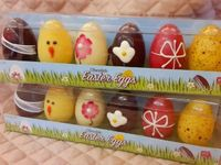 Decorated Chocolate Easter Eggs - Two Packs (click on photo for larger image)