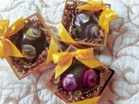 Exquisite Artisanal Eggs - A Trio of Dark (click on photo for larger image) ALMOST SOLD OUT!