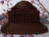 Jefferson Memorial - Solid Dark Chocolate