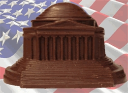 Jefferson Memorial - Solid Milk Chocolate
