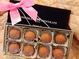 Laderach Hazelnut Truffles - 8 Pieces (click on photo for larger image)