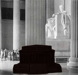Lincoln Memorial - Solid Dark Chocolate