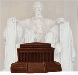 Lincoln Memorial - Solid Milk Chocolate