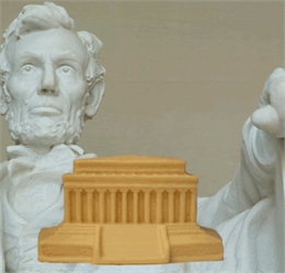 Lincoln Memorial - Solid White Chocolate