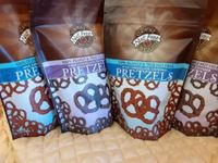 Milk & Dark Chocolate Covered Pretzels - 2 bags (click on photo for larger image)