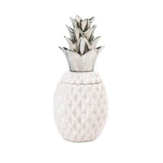 12 Silver Topped Pineapple Jar