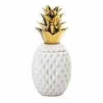 13 Gold Topped Pineapple Jar