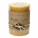 Buttercream Pillar Candle 3x4