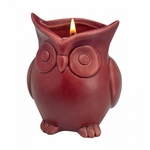 Cranberry Apple Crisp Scented Owl Candle
