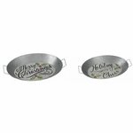 Galvanized Christmas Tray Set of 2