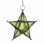 Green Glass Star Lantern