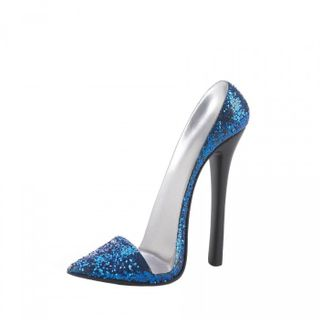 Sparkle Blue Shoe Phone Holder