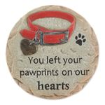 You Left Your Pawprints on Our Hearts - Pet Memorial Stepping Stone