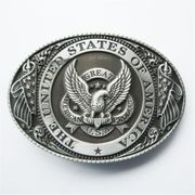 New Vintage Great US Eagle Flag Oval Belt Buckle also Stock in US BUCKLE-WT087AS
