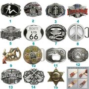 Biker Rider Firefighter Music Belt Buckle Mix Styles Choices Stock in US