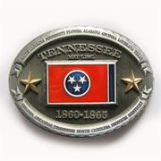 New Vintage Oval Tennessee Flag Belt Buckle also Stock in US BUCKLE-FG017