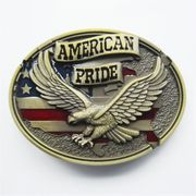 New Vintage Bronze Plated Western American Pride Fly Eagle Belt Buckle also Stock in US
