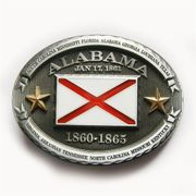 New Vintage Oval Alabama Flag Belt Buckle  also Stock in US BUCKLE-FG008