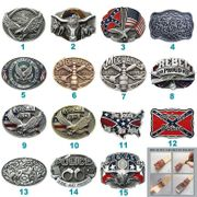 Western Rodeo Bull Eagle Flag Belt Buckle Mix Styles Choices Stock in US