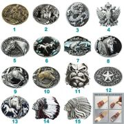Western Wolf Horse Bulldog Belt Buckle Mix Styles Choices Stock in US