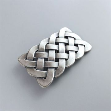 New Original Vintage Silver Plated Cross Celtic Knot Western Belt Buckle