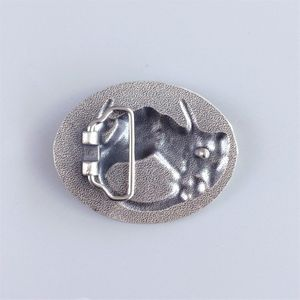 Vintage Two-Tone Silver Gold Plated Horse HorseShoe Oval Belt Buckle